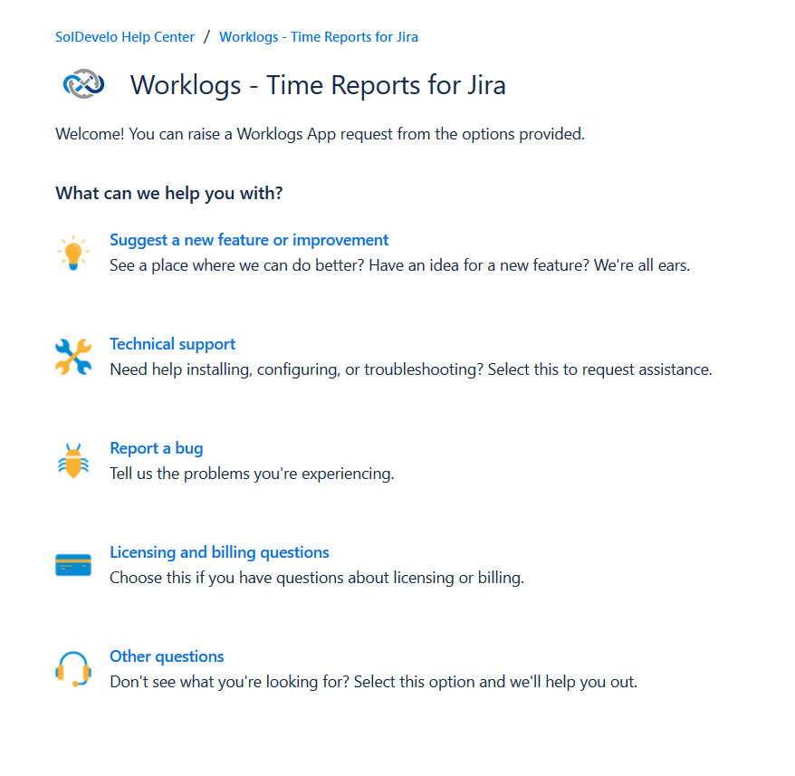 Worklogs- Time Reports for Jira - support